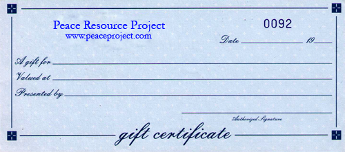 Gift Certificates - $10.00 Increments