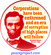 Corporations Have Been Enthroned... - Abraham Lincoln - Button