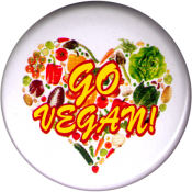 B1208 - Go Vegan - Button