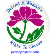 B221 - Defend A Woman's Right To Choose - Button