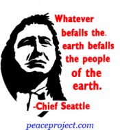 B261 - Whatever Befalls The Earth Befalls The People Of The Earth - Button