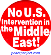 B305 - No US Intervention In The Middle East - Button