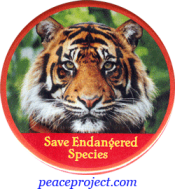 B343 - Save Endangered Species - Button