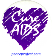B358 - Cure AIDS - Button