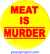 B371 - Meat Is Murder - Button