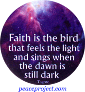 B429 - Faith Is The Bird That Feels The Light And Sings... - Button
