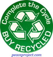 B433 - Complete The Cycle, Buy Recycled - Button