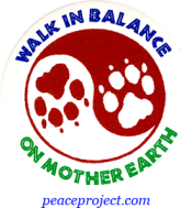 B466 - Walk In Balance On Mother Earth - Button