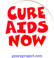 B501 - Cure AIDS Now - Button