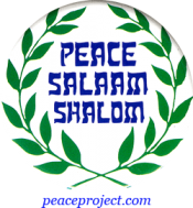 B722 - Peace Shalam Shalom - Button
