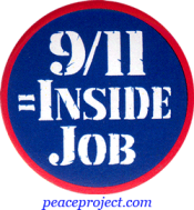 9/11 = Inside Job - Button
