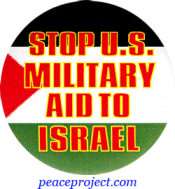 Stop U.S. Military Aid To Israel - Button