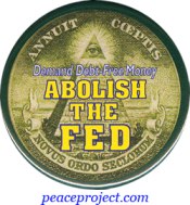 B991 - Demand Debt-Free Money - Abolish The Federal Reserve - Button
