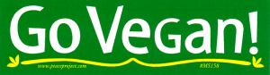 MS158 - Go Vegan - Mini-Sticker