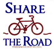 MS166 - Share the Road - Small Bumper Sticker