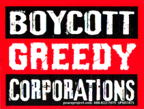 MS187 - Boycott Greedy Corporations - Small Bumper Sticker
