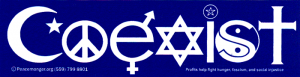 MS72 - Coexist - Mini-Sticker
