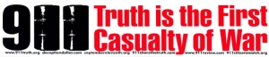 S381 - 9/11 Truth is the First Casualty of War - Bumper Sticker