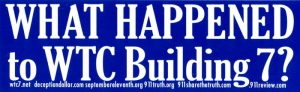 S391 - What Happened to WTC Building 7? - Bumper Sticker