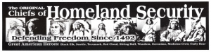 S454 - The Original Homeland Security - Bumper Sticker