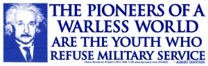 S484 - The Pioneers of a Warless World are the Youth... - Bumper Sticker