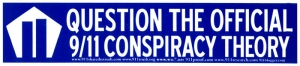 S492 - Question the Official 9/11 Conspiracy Theory - Bumper Sticker