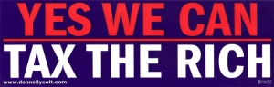 S538 - Yes We Can Tax the Rich - Bumper Sticker