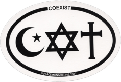 SX40 - Coexist (oval) - Full-Size Sticker