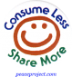 B367 - Consume Less Share More - Button