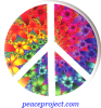 Peace Sign - Fractal Flower - Button