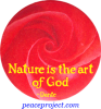 Nature Is The Art Of God - Dante - Button