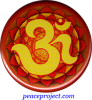 OM (Yellow on Orange) - Button