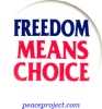 B379 - Freedom Means Choice - Button