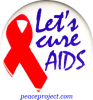 Let's Cure AIDS - Button
