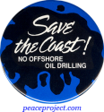 Save The Coast - No Offshore Oil Drilling - Button