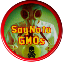 B1207 - Say No To GMO's (with scientist in mask) - Button