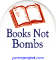 B661 - Books Not Bombs - Button