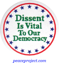 B776 - Dissent Is Vital To Our Democracy - Button