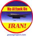 No Attack On Iran - Button