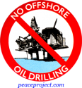 No Offshore Oil Drilling - Button