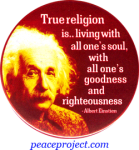 True Religion Is... - Albert Einstein - Button