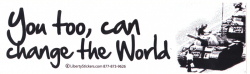 LS35 - You Too, Can Change The World - Digital Sticker