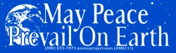 May Peace Prevail on Earth - Mini-Sticker