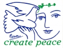 Create Peace (w/ Picasso dove) - Mini-Sticker
