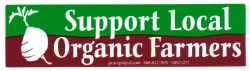 MS127 - Support Local Organic Farmers - Mini-Sticker