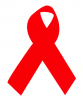 MS14 - AIDS Awareness Red Ribbon - Mini-Sticker