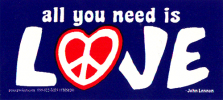 MS176 - All You Need is Love - Mini-Sticker