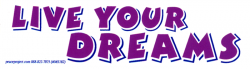 MS182 - Live Your Dreams - Mini-Sticker