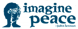 MS184 - Imagine Peace - John Lennon - Mini-Sticker