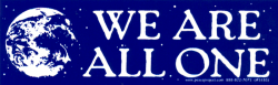 MS185 - We Are All One - Mini-Sticker